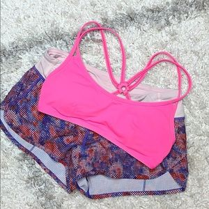 Lululemon Hot Pink Sports Bra Pink Bra Sz 6